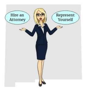 New Mexico hire attorney self represent